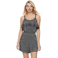 Women's Juicy Couture Marled Ruffle Romper | null