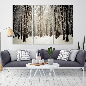 43819 - Forest Wall Art- Autumn Canvas Print- Forest Canvas- Forest Canvas Art- National Art Print- Canvas Print- Large Wall Art-