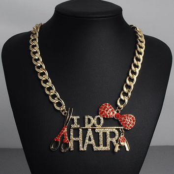 Women  I DO HAIR jewelry collar Statement Necklaces