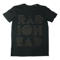 CUT OUT LOGO BLACK T-SHIRT | W.A.S.T.E. US