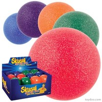 Glitter Inflated Balls - Toysmith - Pack of 24 ea