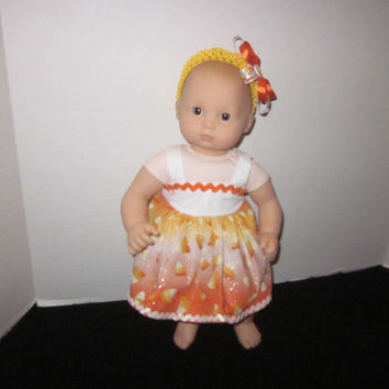 American Girl, Bitty Baby, Cabbage Patch, Doll Clothes, Halloween Candy Corn, Doll Halloween Dress, Baby Doll Clothes Sweetpeas Bows & More