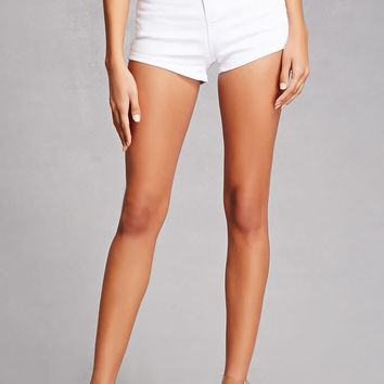 Cutout-Back Denim Shorts