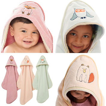 Baby & Toddler Organic Hooded Towel - Woodland Collection