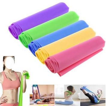 Best 1.5m Elastic Yoga Pilates Rubber Stretch Resistance Exercise Fitness Band [8069647495]