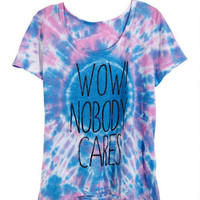 Wow Nobody Cares Tee