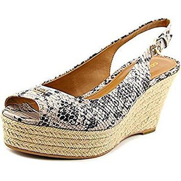 Coach Ferry Wedges White Snake 5.5