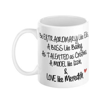 Grey's Anatomy Grey's Poem Mug 11oz Ceramic Coffee Mug Typography - Fan Mug