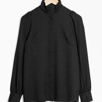 Turtleneck Blouse - Black - Blouses - & Other Stories US