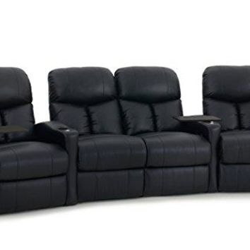 Octane Seating BOLT-R4CLM-BND-BL Octane Bolt XS400 Leather Home Theater Recliner Set (Row of 4)