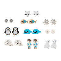 9 Pack Antarctic Stud Earrings