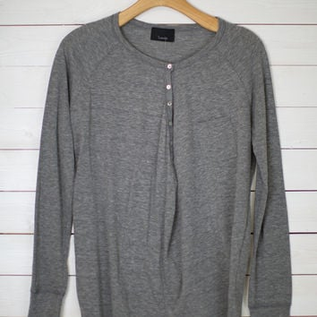 Henley Style Long Sleeve Top