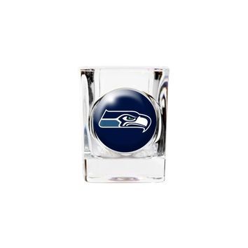 Seattle Seahawks 2oz Square Shot Glass - Etching Personalized Gift Item