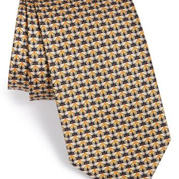 Men's Salvatore Ferragamo Butterfly Print Silk Tie, Size Regular