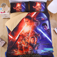 Star Wars 3D Bedding Set  Print  Duvet cover shooting star Twin queen king Beautiful pattern Real effect lifelike #2