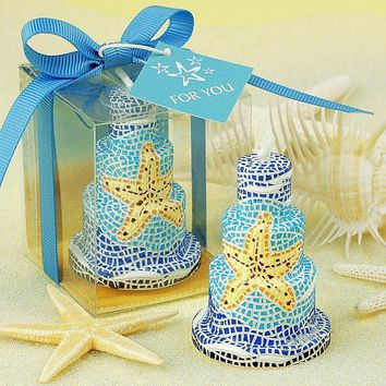 Romantic wedding decoration candle cake candles supplies starfish small gift birthday candle Scented candle