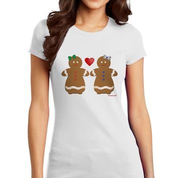 Gingerbread Woman Couple Juniors T-Shirt by TooLoud