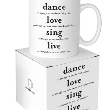 Quotable Cards - Dance Love Sing Live - 14-oz Mug with Gift Box