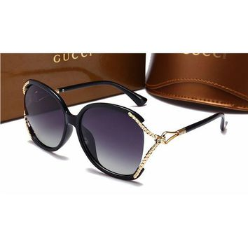 Gucci Fashion Women Casual Sun Shades Eyeglasses Glasses Sunglasses Black G