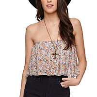 LA Hearts Chiffon Overlay Cropped Top at PacSun.com