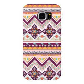 Colorful Tribal Aztec Chevron Zig Zag Pattern Samsung Galaxy S6 Case
