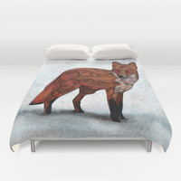 Red Fox Duvet Cover by Ben Geiger