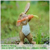 Everyday Collection easter decorations for home  cute rabbit figurines miniature tabletop ornaments Fairy garden