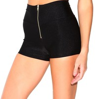 Zipper High Waisted Shorts