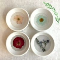 Pressed Rose Ring Dish, trinket real flower jewelry holder tray bridesmaids wedding gift gifts for her Mother's Day botanical