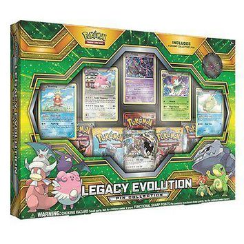 Pokemon TCG Legacy Evolution Pin Collection Card Game