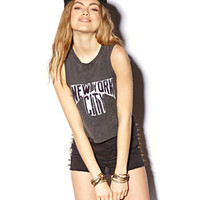 New York City Distressed Crop Top