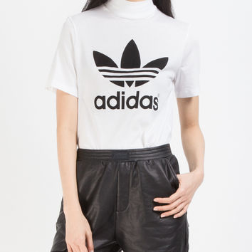 adidas Originals White Berlin Trefoil High-neck T-shirt | HBX.