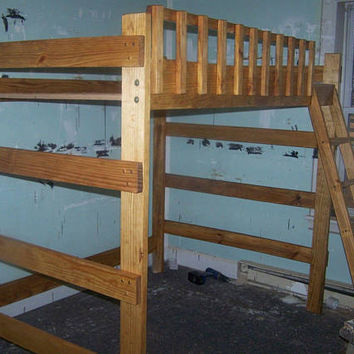 Heavy duty full size loft bed
