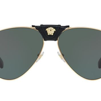 NEW SUNGLASSES VERSACE VE2150Q in Gold