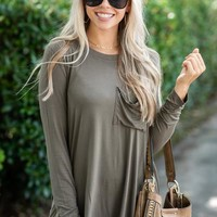 A Dream Come True Top, Olive