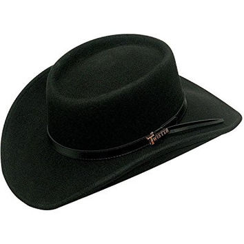 Twister Men's Crushable Gambler Hat Black X-Large