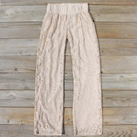 Fortunate Lace Pants in Sand