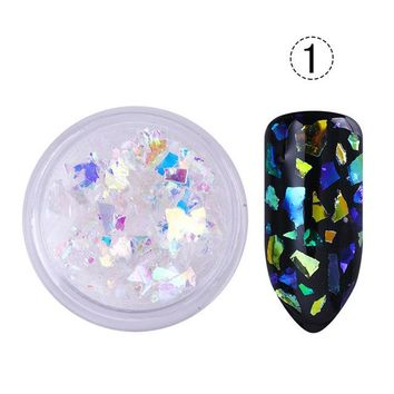 Irregular Shell Paper Nail Flakies Gold Silver 4 Colors Paillette Glitter Nail Art Sequins for 3D Nail Art Decoration