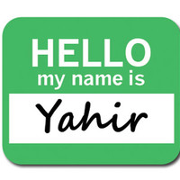 Yahir Hello My Name Is Mouse Pad