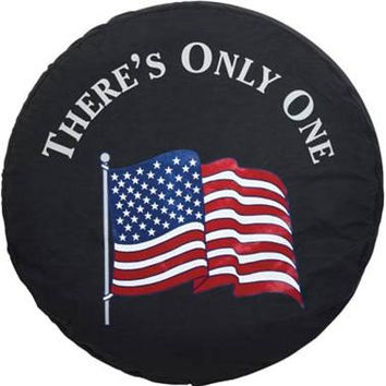 "All Things Jeep - Spare Tire Covers - ""American Flag - There's Only One"""