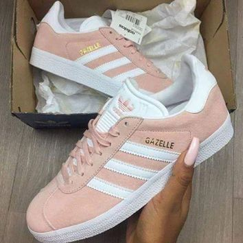 CREYNW6 Adidas Originals Wmns Gazelle Vapour Pink / Gold Metallic Women's  BA9600 Sneakers Classic Casual Shoes