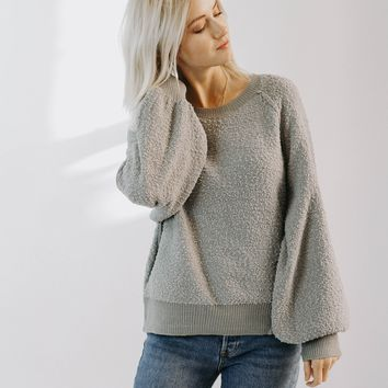 Lazy Gal Pullover (Grey)