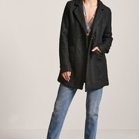 Boucle Double-Breasted Peacoat
