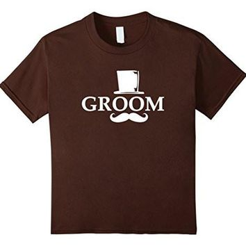 Groom Mustache And Top Hat Wedding Bachelor Party T Shirt