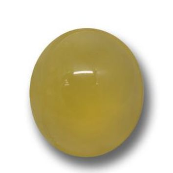 6.15 ct  Oval Cabochon Yellow Agate 12.8 x 11.4 mm