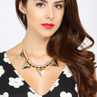Embellished Pyramid Necklace Set