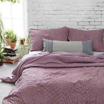 Plum & Bow Meghan Ruched Duvet Cover-