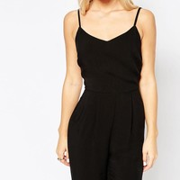New Look Petite | New Look Petite Strappy Jumpsuit at ASOS