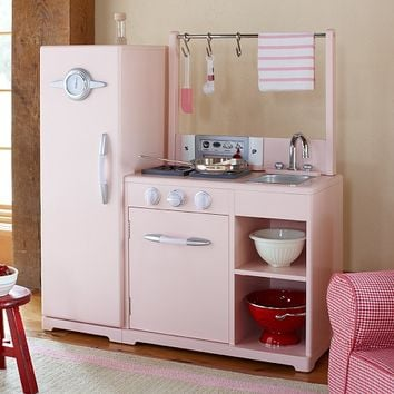Pink All-in-1 Retro Kitchen | Pottery Barn Kids