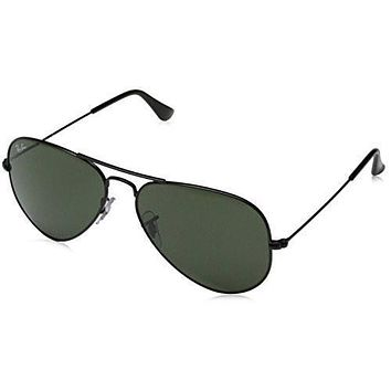 Ray-Ban Unisex-Adult Aviator Large Metal Non-Polarized Aviator Sunglasses